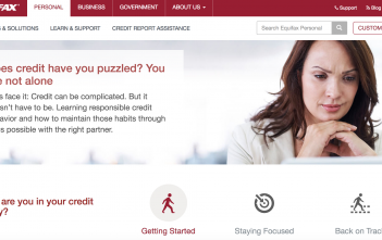 Equifax-Webseite