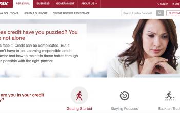 Equifax-Webseite