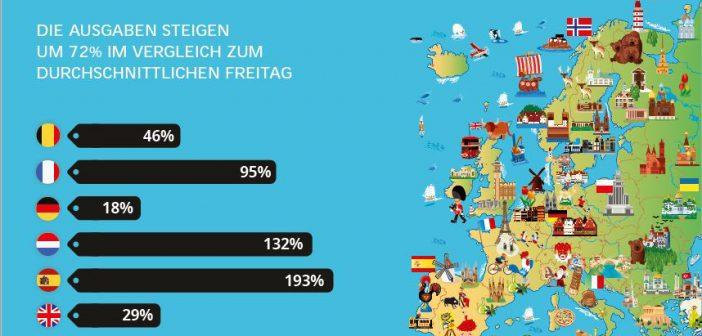 Studie: Am Black Friday liefern sich Händler in ganz Europa einen Online-Kampf